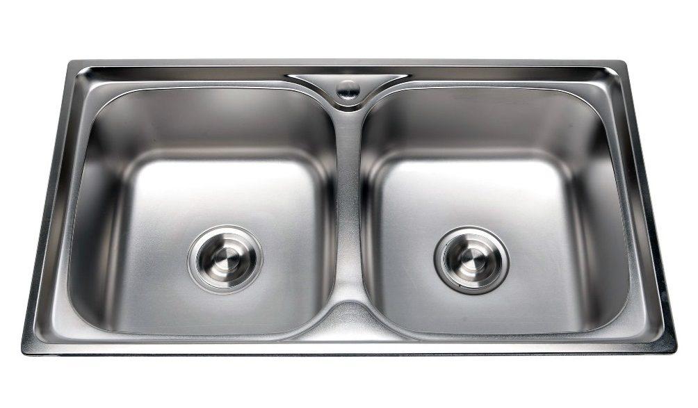 Bồn rửa chén 2 ngăn inox